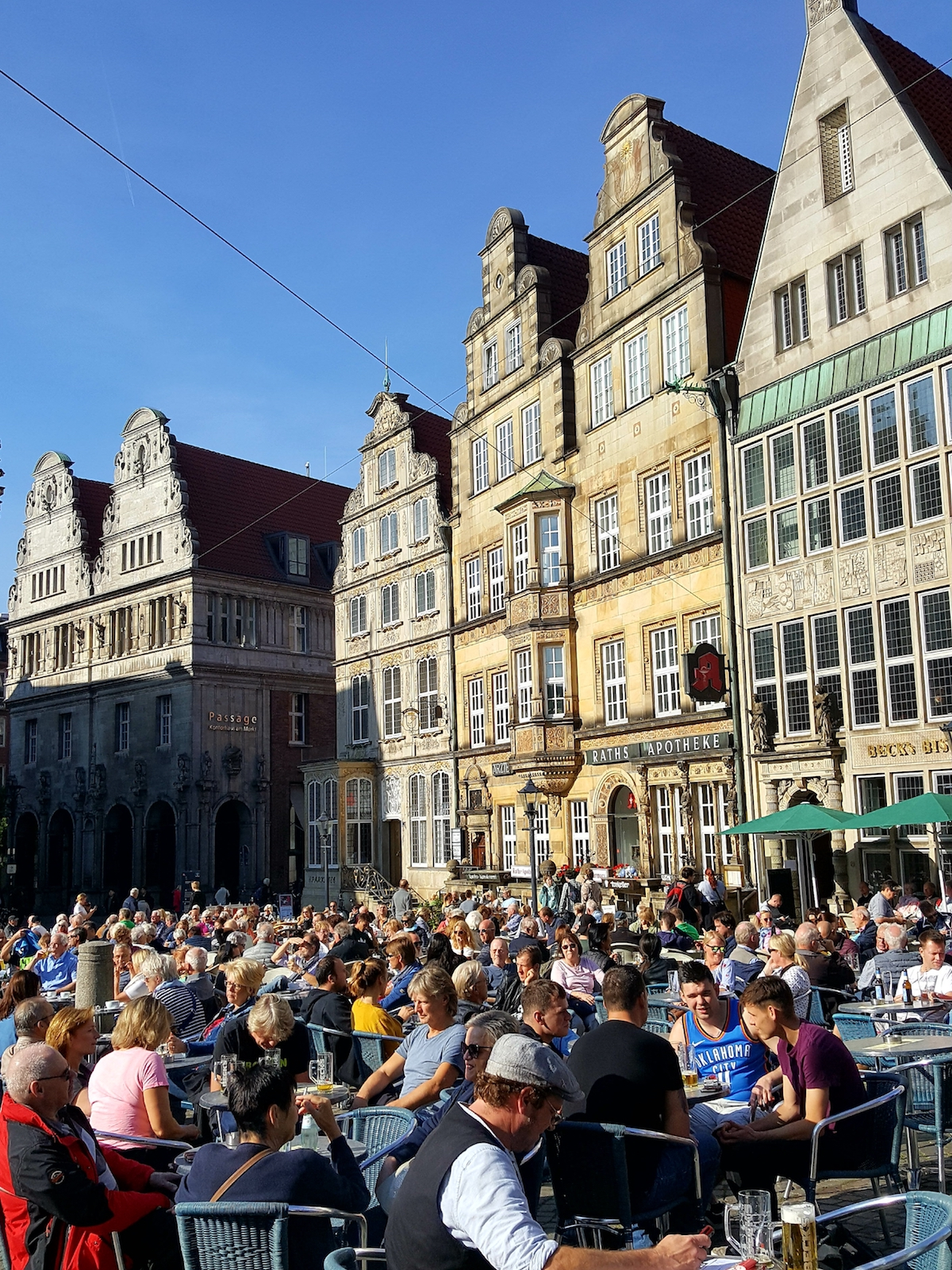 Cafés am Marktplatz in Bremen