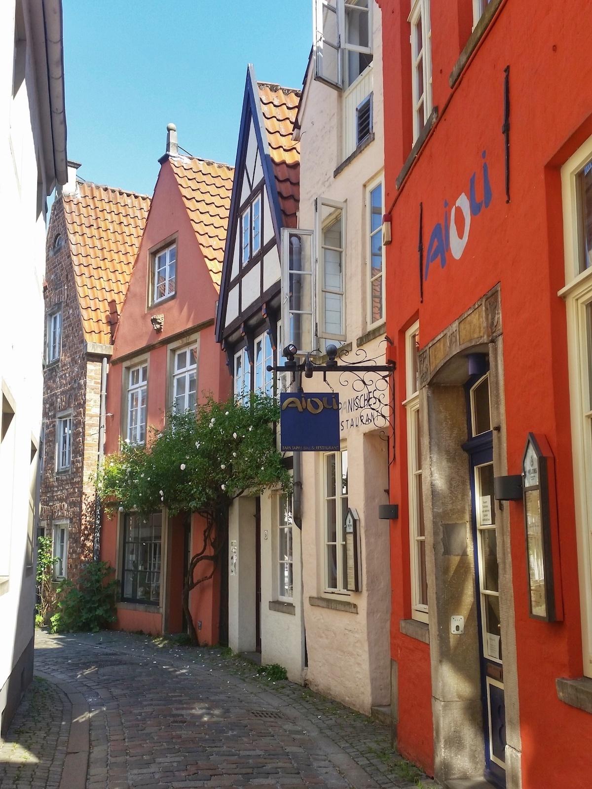 Das Schnoor-Viertel in Bremen: die Schnoor-Gasse