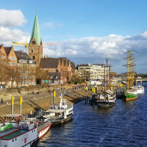 Die Schlachte – Bremens Weserpromenade in der Altstadt